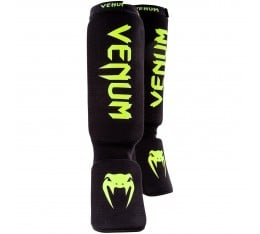 Протектори за Крака - VENUM KONTACT SHINGUARDS AND INSTEP - COTTON / Black/Neo Yellow ​