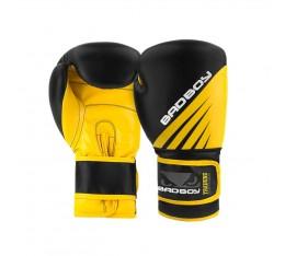 Боксови Ръкавици - Bad Boy Training Series Impact Boxing Gloves - Black/Yellow  Боксови ръкавици