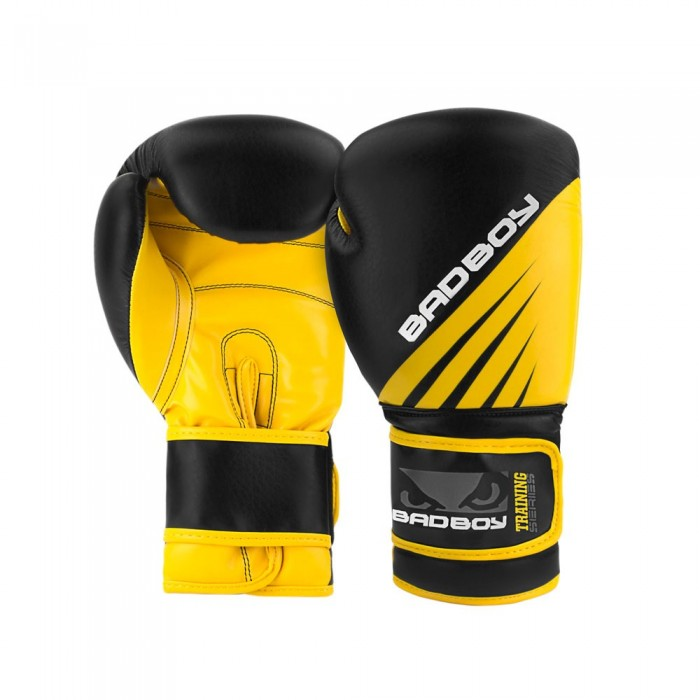 Боксови Ръкавици - Bad Boy Training Series Impact Boxing Gloves - Black/Yellow