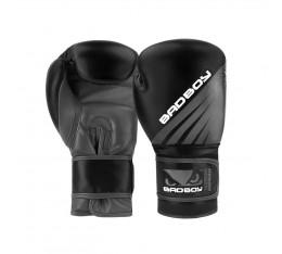 Боксови Ръкавици - Bad Boy Training Series Impact Boxing Gloves - Black/Grey  Боксови ръкавици