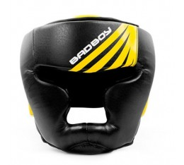 Протектор за глава /КАСКА/ -  Bad Boy Training Series Impact Head Guard - Black / Yellow​