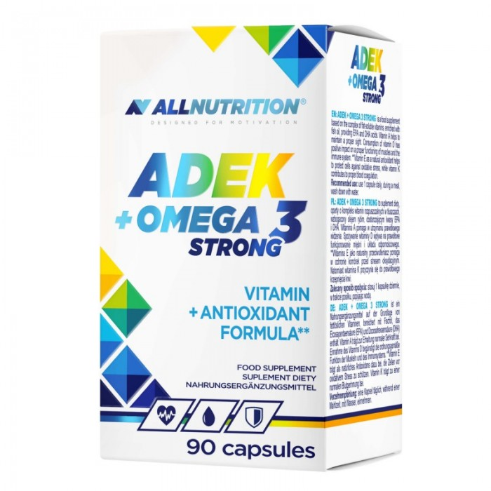 Allnutrition ADEK + Omega 3 Strong - Витамин A D E K + Омега 3 / 90caps