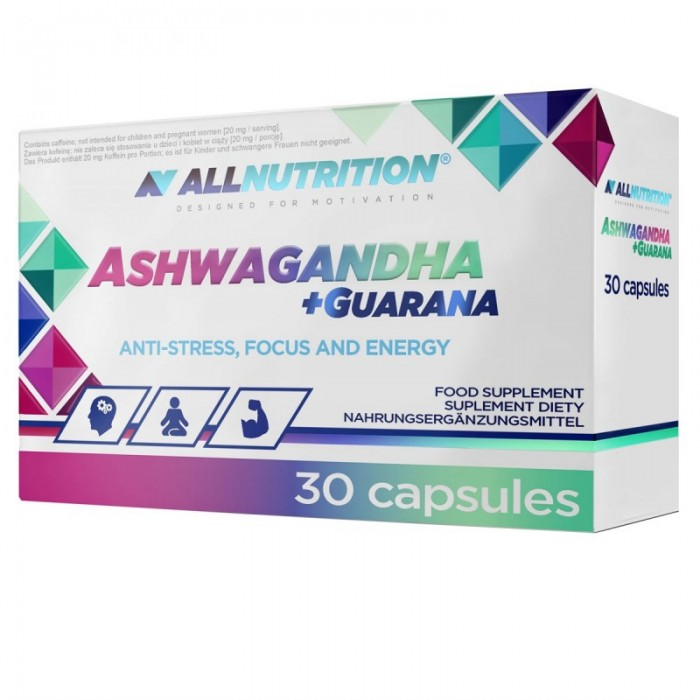Allnutrition Ashwagandha + Guarana - Ашваганда + Гуарана / 30caps