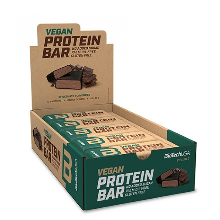 BIOTECH USA Vegan Protein Bar Box / 20 x 50 g