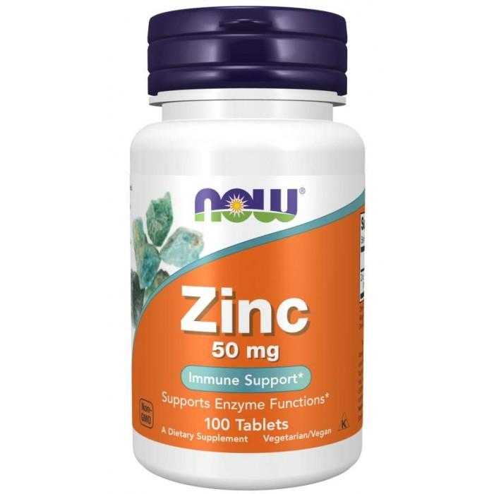 NOW - Zinc Gluconate 50mg / 100 tab