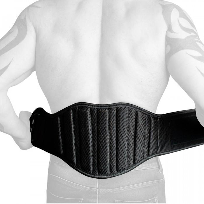 SZ Fighters - Фитнес колан от плат усилен в кръста / 20см ширина- Black Matte