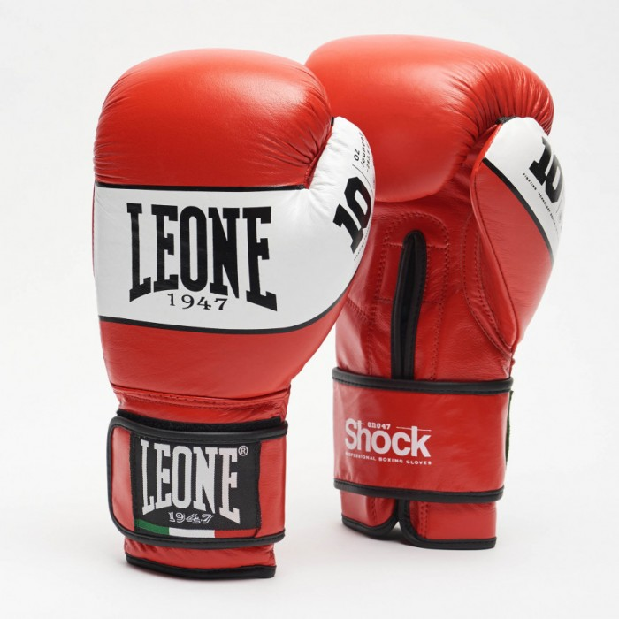 Leone - SHOCK Boxing Gloves GN047 / Red