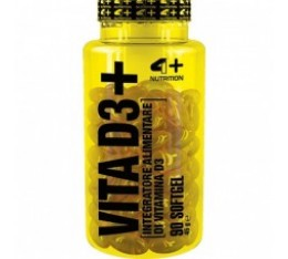 4+ Nutrition VITA D3+ 90 гела Витамини, минерали и др.