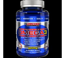 AllMax - Omega 3 / 180 softgels Хранителни добавки, Мастни киселини, Рибено масло