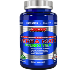 AllMax - Yerba Mate Green Tea / 100 Caps. Хранителни добавки, Антиоксиданти