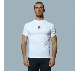 AmerFoot - Рашгард - Bamboo / Бял / Къс ръкав Бойни спортове и MMA, Спортни облекла и Дрехи, Рашгарди