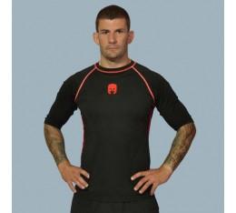 AmerFoot - Рашгард с къс ръкав / Червен Кант Бойни спортове и MMA, Спортни облекла и Дрехи, Рашгарди
