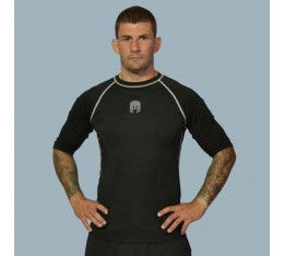 AmerFoot - Рашгард с къс ръкав / Сив Кант Бойни спортове и MMA, Спортни облекла и Дрехи, Рашгарди