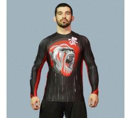 AmerFoot - Рашгард с дълъг ръкав / Kong Warrior Бойни спортове и MMA, Спортни облекла и Дрехи, Рашгарди