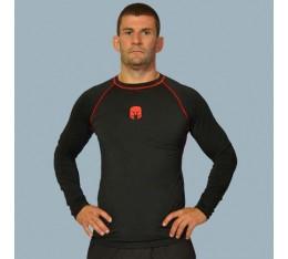 AmerFoot - Рашгард с дълъг ръкав / Червен Кант Бойни спортове и MMA, Спортни облекла и Дрехи, Рашгарди