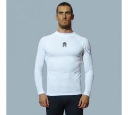 AmerFoot - Рашгард с дълги ръкави - Bamboo / Бял Бойни спортове и MMA, Спортни облекла и Дрехи, Рашгарди