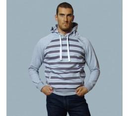 AmerFoot - Суитчър - Vintage Striped - сиво Спортни облекла и Дрехи, Суитчъри и блузи