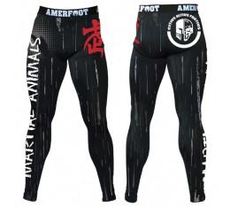 AmerFoot - Тренировъчен клин с дълги крачоли / Legging Martial Animals Бойни спортове и MMA, Спортни облекла и Дрехи, Клинове за мъже, Клинове