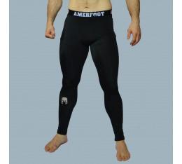 AmerFoot - Тренировъчен клин с дълги крачоли / Сиво лого Бойни спортове и MMA, Спортни облекла и Дрехи, Клинове за мъже, Клинове