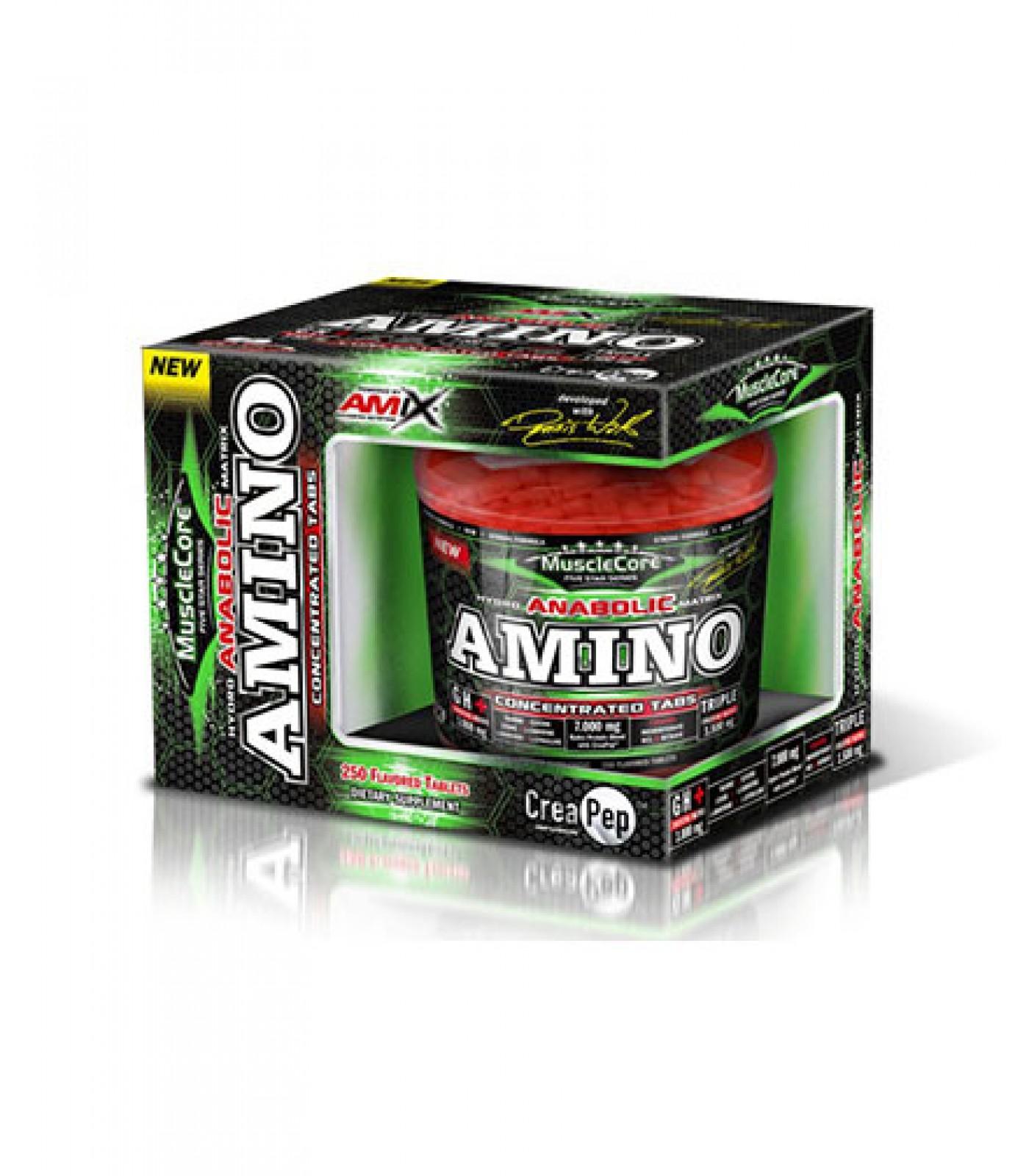 Amix - Anabolic Amino with CreaPep / 250tabs.