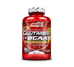 Amix - Glutamine + BCAA / 360 Caps. Хранителни добавки, Аминокиселини, Глутамин