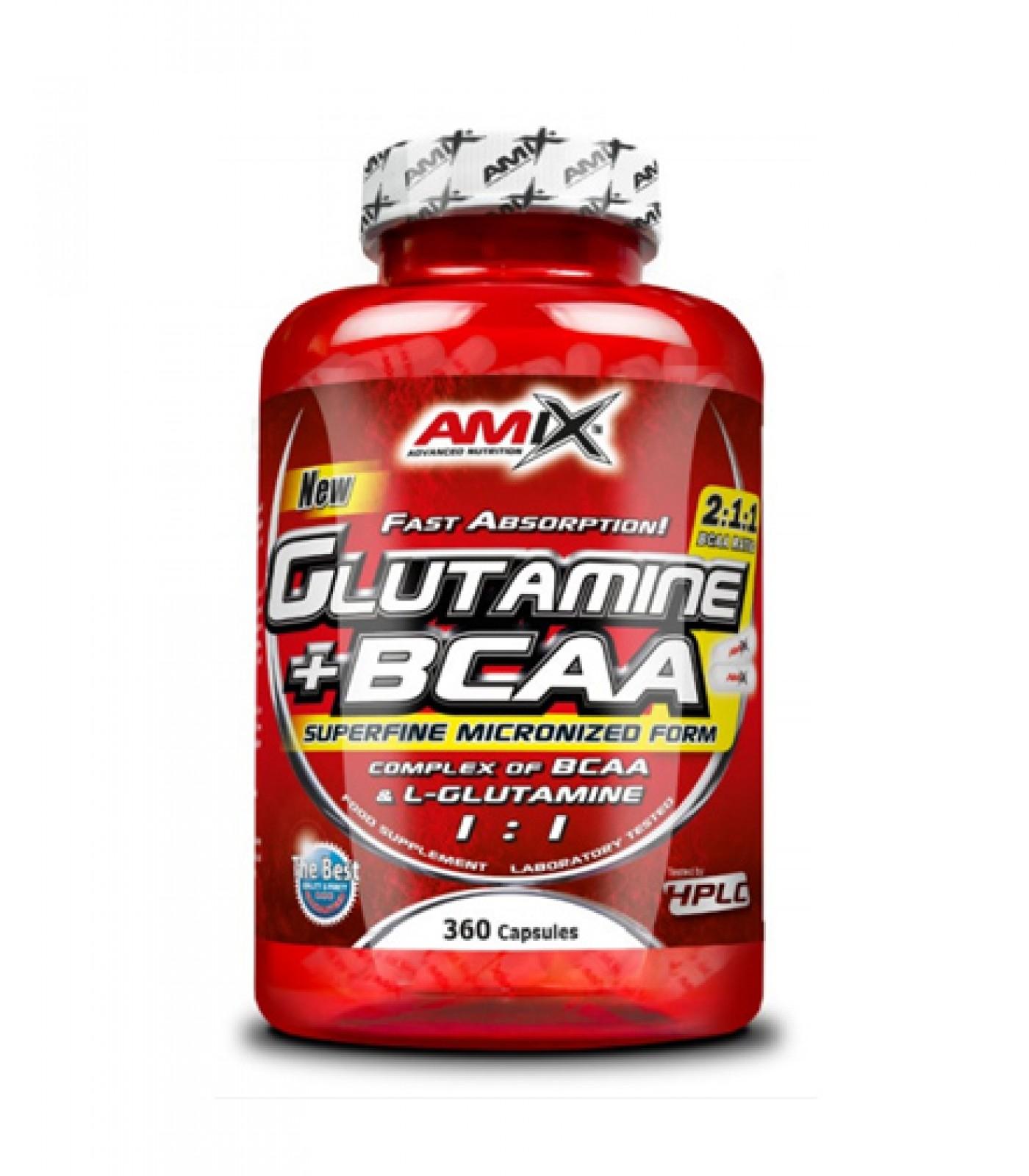 Amix - Glutamine + BCAA / 360 Caps.