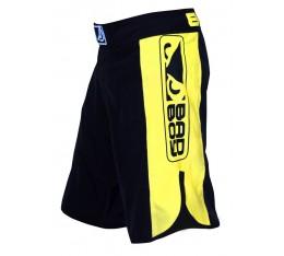 Bad Boy - MMA Шорти / черно-жълт цвят Бойни спортове и MMA, Къси гащета
