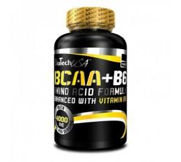 BioTech - BCAA + B6 / 100tabs. Хранителни добавки, Аминокиселини, Разклонена верига (BCAA)