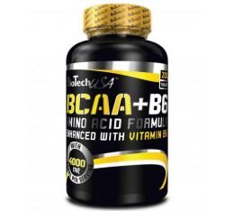 BioTech - BCAA + B6 / 200tabs. Хранителни добавки, Аминокиселини, Разклонена верига (BCAA)