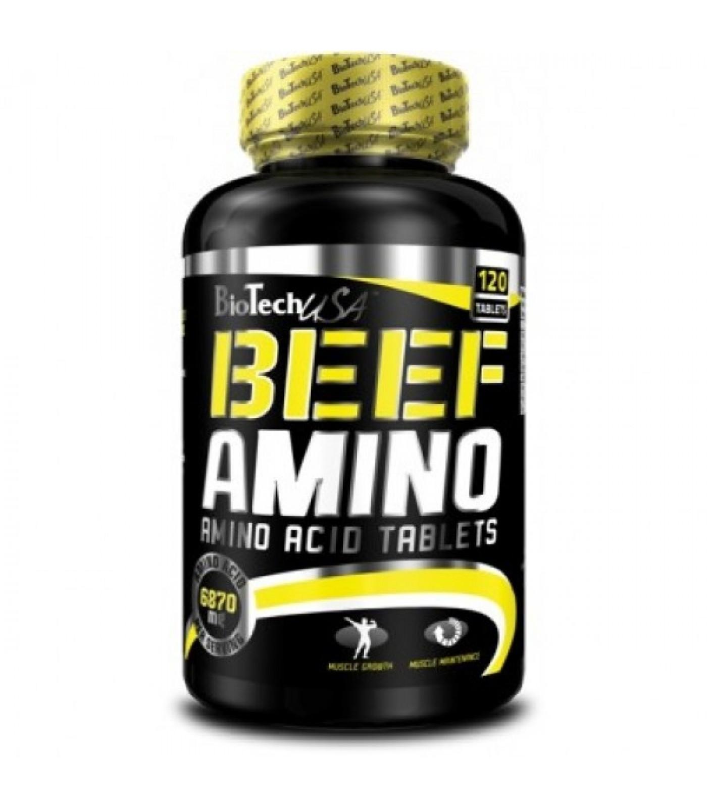 BioTech - Beef Amino / 120 Tabs.