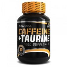BioTech - Caffeine + Taurine / 60 caps. Хранителни добавки, Отслабване, Кофеин