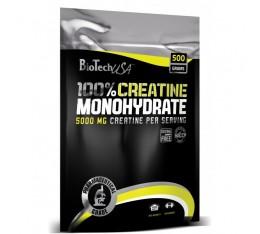 BioTech - 100% Creatine Monohydrate /пакет/ / 500gr Хранителни добавки, Креатинови продукти, Креатин Монохидрат