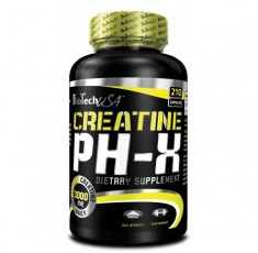 BioTech - Creatine pH-X / 210 caps. Хранителни добавки, Креатинови продукти, Креатин Монохидрат