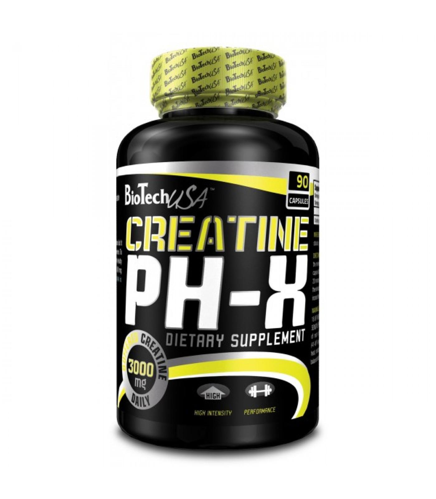 BioTech - Creatine pH-X / 90 caps.