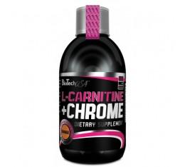 BioTech - L-Carnitine + Chrome / 500ml. Хранителни добавки, Отслабване, Л-Карнитин