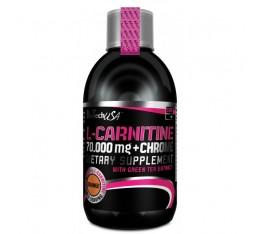 BioTech - L-Carnitine + Chrome 70.000 Liquid / 500 ml Хранителни добавки, Отслабване, Л-Карнитин