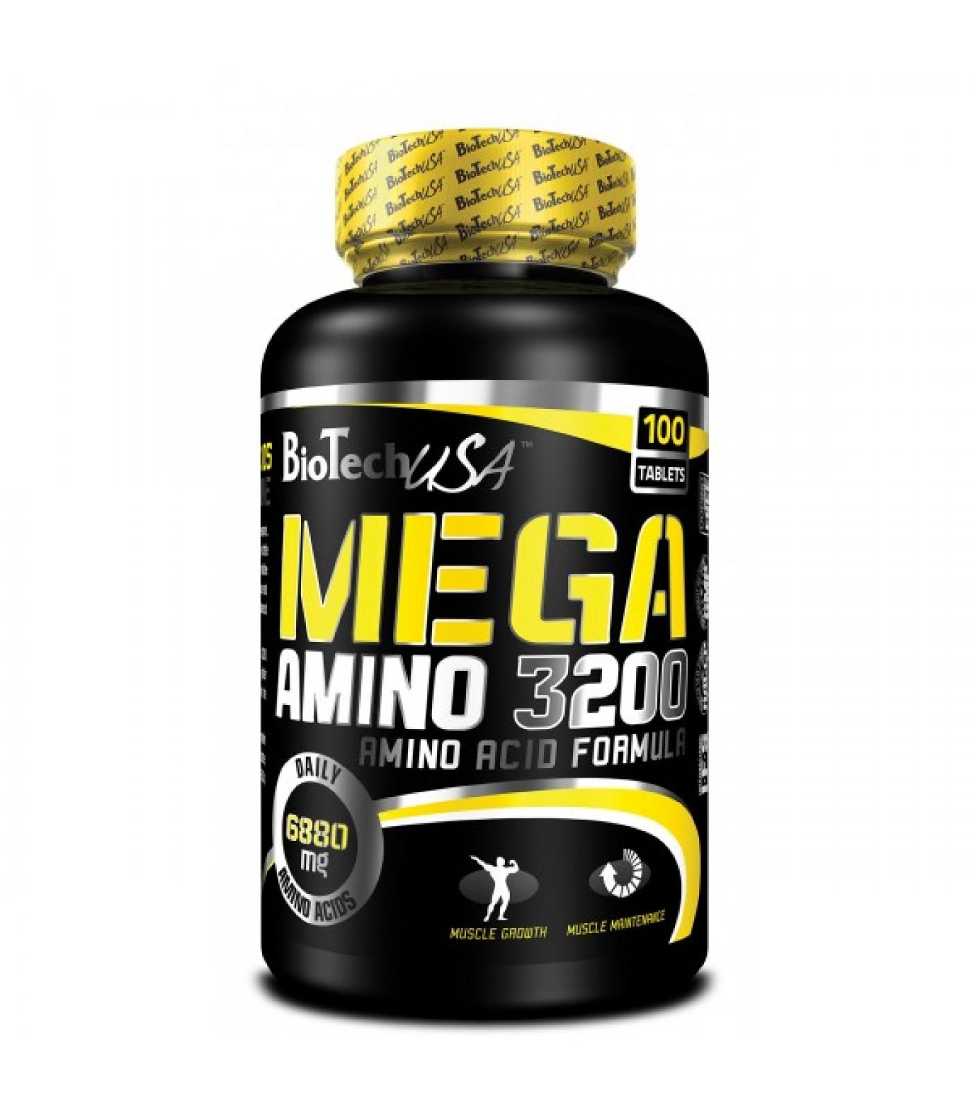 BioTech - Mega Amino 3200 / 100 tabs.