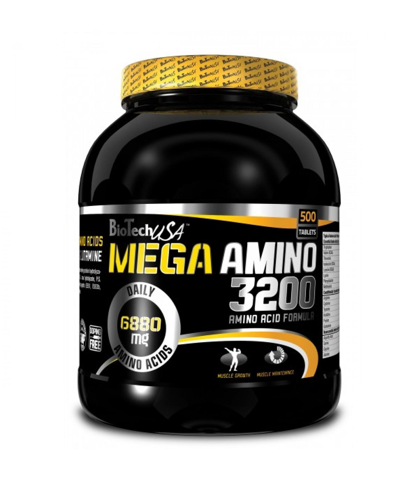 BioTech - Mega Amino 3200 / 500 tabs.