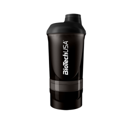 BioTech - Shaker Wave+ Black - с отделения / 600ml. Presents, 200, Шейкъри, ПОДАРЪЦИ