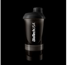 BioTech - Shaker Wave+ Black - с отделения / 600ml.