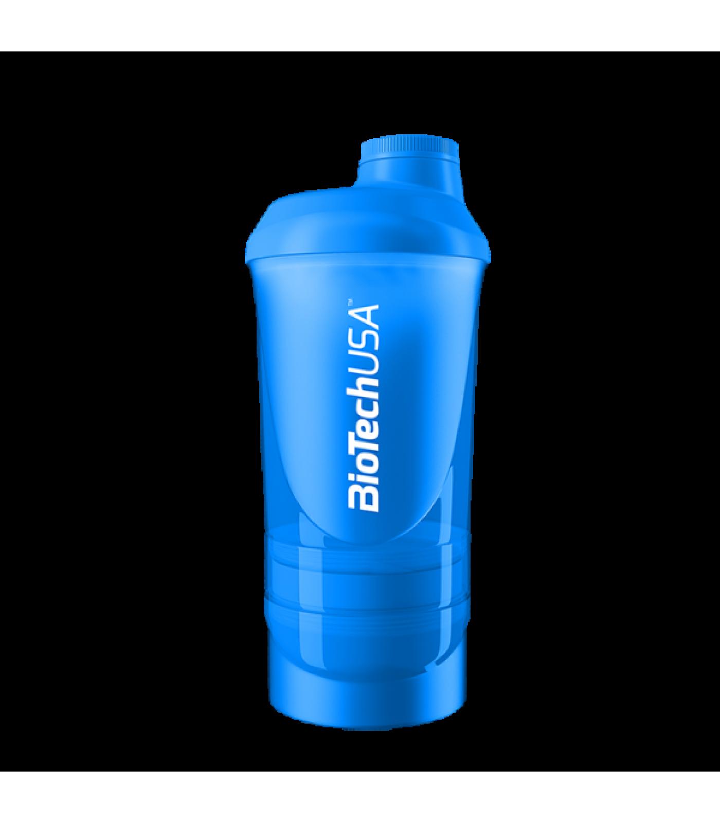 BioTech - Shaker Wave+ Blue - с отделения / 600ml.