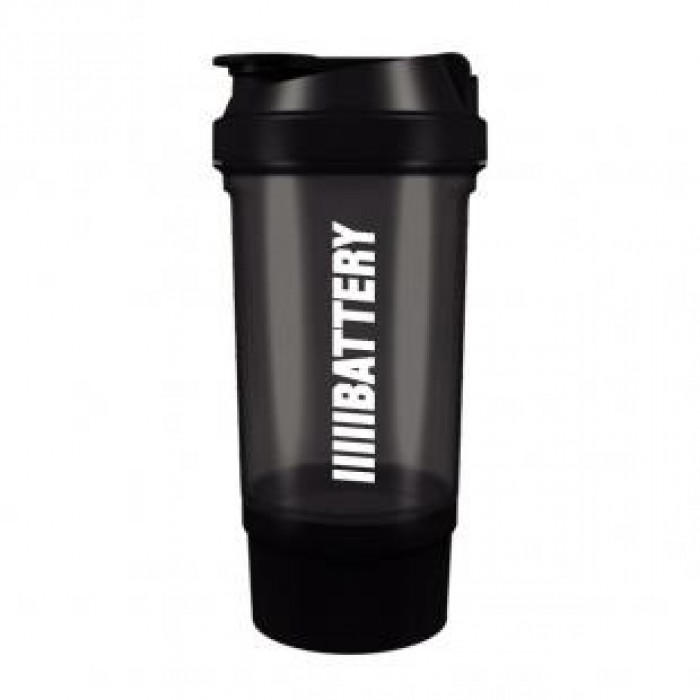 Battery Nutrition - Shaker Plus Black / 550 ml. - с отделение