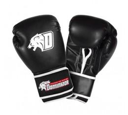 Dominator - Боксови ръкавици / D Logo - черни (изкуствена кожа) Бойни спортове и MMA, Боксови ръкавици