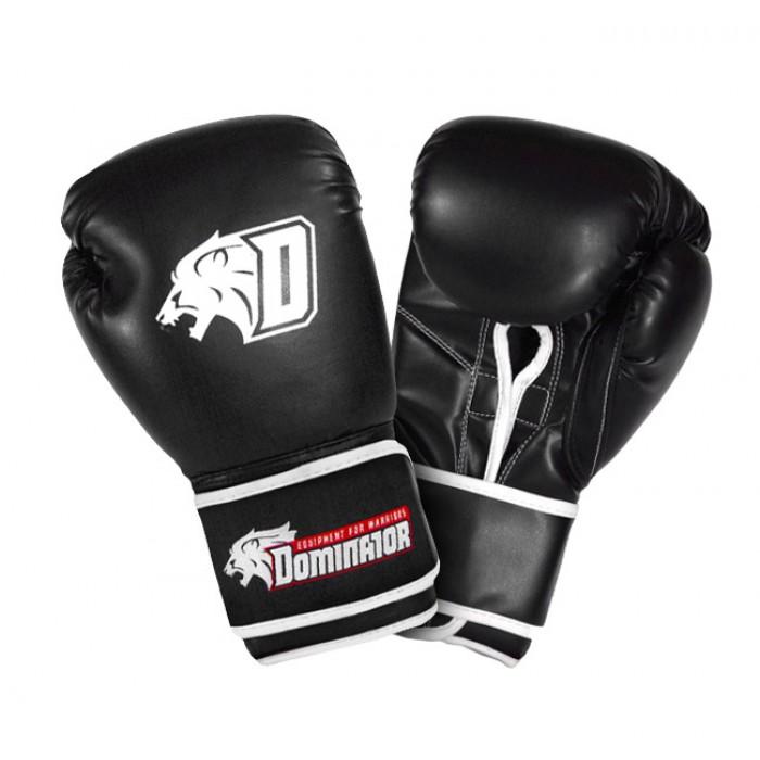 Dominator - Боксови ръкавици / D Logo - черни (изкуствена кожа)