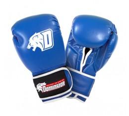 Dominator - Боксови ръкавици / D Logo - сини (естествена кожа) Бойни спортове и MMA, Боксови ръкавици