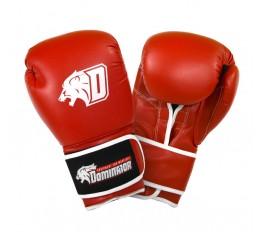 Dominator - Боксови ръкавици / D Logo - червени (естествена кожа) Бойни спортове и MMA, Боксови ръкавици