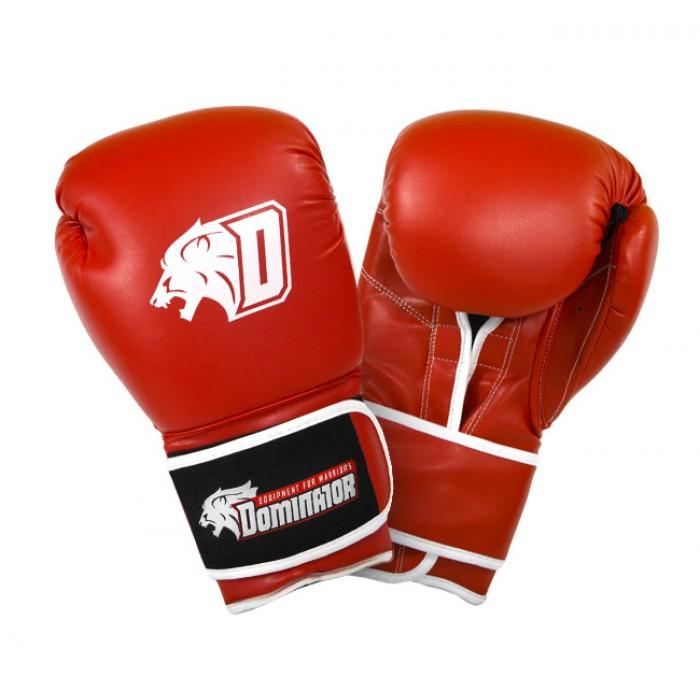 Dominator - Боксови ръкавици / D Logo - червени (изкуствена кожа)