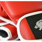 Dominator - Боксови ръкавици / D Logo - червени (естествена кожа)