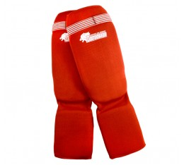Dominator - Протектор за крака (Памучни / червени) Бойни спортове и MMA, Протектори за крака