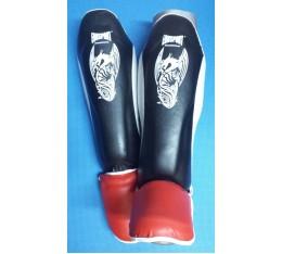 EON Sport - Протектори за Муай Тай / Черно-червени Бойни спортове и MMA, Протектори за крака